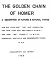 """Golden Chain of Homer (Aurea Catena Homeri)"" Edited by: Anton Kirchweger."